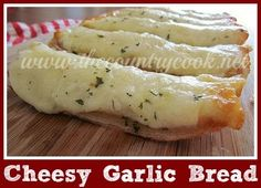 Gooey, Cheesy Garlic Bread {it has a secret ingredient that makes this the best garlic bread you ever put in your mouth!}
