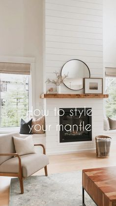 Fireplace Mantle, Living Room With Fireplace, Home Living Room, Living Room Decor Fireplace, Fireplace Built Ins, Shiplap Fireplace, Living Room Update, Farmhouse Fireplace, Living Room Remodel