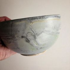 """Bowl in glaze """"Northsea"""" (lots of Waves :-)"""