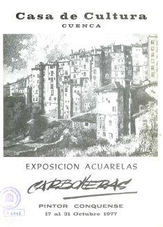 Exposición de acuarelas de Carboneras en la Casa de Cultura de Cuenca Octubre 1977