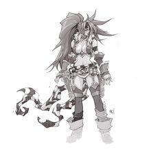 Battle Chasers Red Monika by Joe Madureira Joe Madureira, Character Sketches, Character Drawing, Female Drawing, Fantasy Character Design, Character Inspiration, Battle Chasers, Heavy Metal Art, Black And White Comics