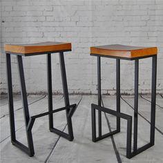 American Vintage Iron wood tall bar chairs creative fashion casual cafe bar stool bar stools