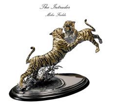 The Intruder - Tiger Sculpture by Mike Fields
