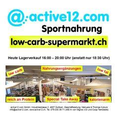 HEUTE LAGERVERKAUF bis 20:00 Uhr (anstatt 18:30 Uhr)  ■ Nahrungsergänzungen ■ low carb ■ low fat ■ reich an Protein ■ kalorienarm ■ Special Take Away - coole Drinks, auch Pre-Workout! #Supplements #Nahrungsergänzungen #Special #TakeAway #FingerFood #lowcarb #lowfat #proteinreich #kalorienarm #lowcarbs #lowcarbschweiz #lowcarbswitzerland #lowcarblife #lowcarbliving #lowcarbfood #lowcarbdiet #abnehmen #abnehmenschweiz #eatclean #fitness…
