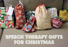Speech Therapy Gifts For Christmas-List From Play Talk Learn. Pinned by SOS Inc. Resources. Follow all our boards at pinterest.com/sostherapy/ for therapy resources.