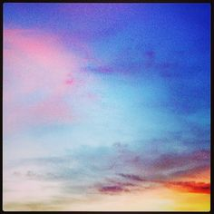 Photo by Olivia Chapé; Because I love the beauty of #colourful #skies!