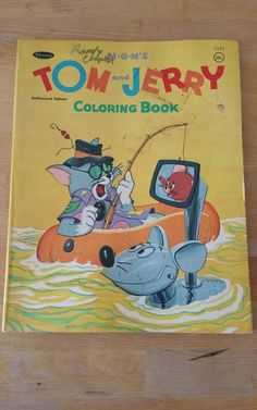Vintage Tom And Jerry Coloring Book Used 1960s