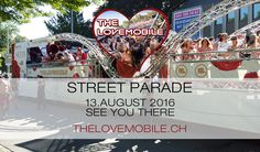 The Lovemobile at Street Parade Zürich Deep, Ticket, Broadway Shows, Street, Party, Nice View, Parties, Walkway