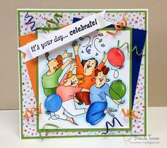 Art Impressions Ai Girlfriends  Party Girls Set (Sku#4131) handmade birthday card.