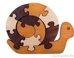 Rooster puzzle wood puzzle in cherry with by HolyokePuzzles