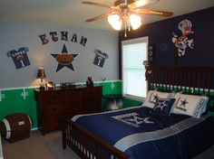 Teen room boy decor on pinterest dallas cowboys teen for Dallas cowboy bedroom ideas