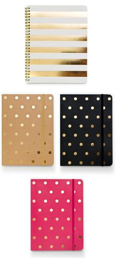 Notebooks . gold . lined.
