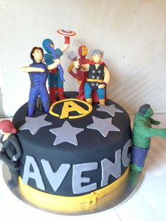 Belle's Patisserie created this Avenger cake. Each character in detail to delight your little man.