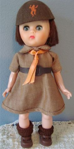UNEEDA: 1960 Girl Scout BROWNIE Doll