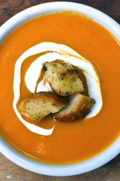 Roasted Sweet Potato Soup | Recipe from A Southern Soul
