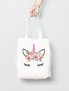 cd913c02bbce Etsy Unicorn Tote Bag with Flower Crown #affiliate Envelopes, Nhà Cửa Tự  Làm,