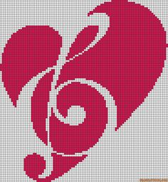 Cross Stitch Treble Heart