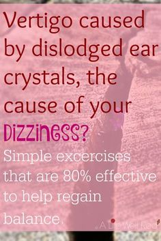 I never knew before that we had tiny crystals in our ears that affected our balance! Whenever I experience an CFS/ME flare (or even my Fibromyalgia) brought on by a re-activation of the EBV virus in my body, I get terrible DIZZY SPELLS. By following the simple exercise included in this article, I now know there is something I can do to help the VERTIGO I sometimes experience! *Pin Now For Later