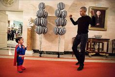 Photos of Obama Being Awesome: Obama vs. Superman
