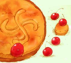 フランス、バスク地方のお菓子。十字は太陽を表しているそう。さくらんぼを中に入れました。 ●どうやら一年が365日だというのは本当だったようです 一年間ありがとうございます。これからも宜しくお願いします
