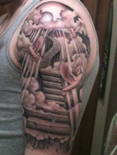 sleeve tattoo stairs - Google Search
