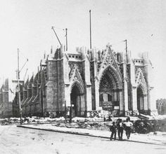 St. Patrick's cathedral under construction, 1868