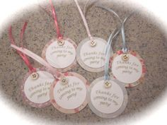 Shabby Chic FAVOR TAGS Thank you tags by ThePinkPapermill on Etsy, $7.95