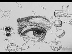 ▶ Pen  Ink Drawing Tutorials | How to draw a realistic eye Part 2 - YouTube ✤…