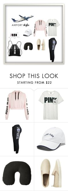 """""""Airport Style"""" by perezbarrios on Polyvore featuring Victoria's Secret, Victoria's Secret PINK, Victorinox Swiss Army and Gap"""