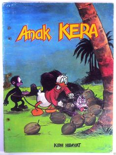 This is the Indonesian version of popular American comic characters from the 1970s and 1980s.  The obscure illustration and localized story was done unofficially by local artist and writer, most of the times with their own interpretation.  The pulp book was printed using offset method, then being sold by the street gawker and at small book stores in rural areas.