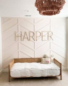Accent Wall Bedroom, Bedroom Decor, Bedroom Ideas, Up House, Board And Batten, Little Girl Rooms, Girls Bedroom, Master Bedroom, Bedrooms
