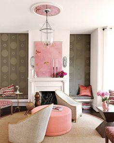 Pops of pink = ! (: @jonnyvaliant | Design: @barrydarrdixon) #HBcolor #interiordesign #instadecor