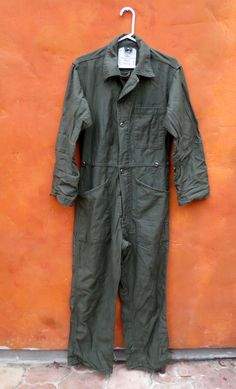 Vintage U.S. Military Army Green Mens Jumpsuit Coveralls Action Suit. S/M