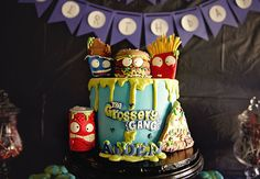 Grossery Gang cake made by Little Hunnys Cakery. Photo by Kristine Wahner Photography