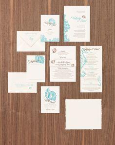Maritime Hochzeitspapeterie in Türkis mit Seepferdchen und Muscheln – turquoise maritime wedding stationary with shells and seahorses – www.weddingstyle.de
