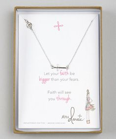 absolutely LOVE  this Silver Miss Darcie Horizontal Cross Pendant Necklace on #zulily! #zulilyfinds Its now on order for my kennybaby !!