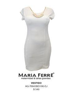 PLUS SIZE DRESS, WHITE. MARÍA FERRÉ