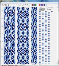 Bead crochet pattern, 15 around