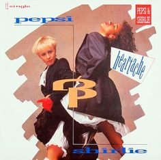 This is Pepsi & Shirlie Heartache single vinyl record . The scanned pictures are of the actual record cover.