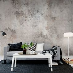Ideas for living room wallpaper accent wall lounges grey Stunning Wallpapers, Decor Room, Interior Inspiration, Room Inspiration, Wall Murals, Wall Art, Mural Art, Living Room Designs, Living Rooms