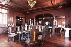 """The house of Gregorio Agoncillo in Taal, Batangas is an example of the typical """"bahay na bato"""": a fusion of the indigenous nipa hut and Spanish architecture. Filipino, Batangas, Spanish Architecture, Filipiniana, Languages, Philippines, Houses, Rooms, House Design"""