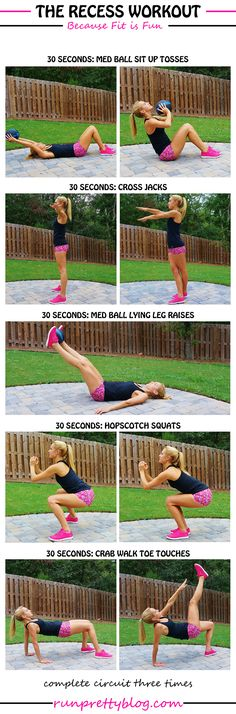 The Recess Workout (Get Fit Like a Kid!) via Run Pretty