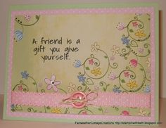 Pastel card for a Friend. http://stampinwithbeth.blogspot.com