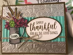 This is a fun new stamp set out of the holiday catalog! It is called Country Home! Scrapbooking, Scrapbook Cards, Embossed Cards, Stamping Up Cards, Thanksgiving Cards, Fall Cards, Pretty Cards, Card Sketches, Paper Cards