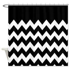 black white chevron shower curtain. Black and White Chevron Shower Curtain  blackandwhitechevronshowercurtainglam Pinterest