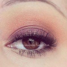 sunset eyes - soft orange & violet eye makeup - for a more intense version: http://pinterest.com/pin/154177987215917573/