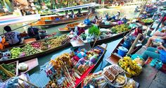 Exploring the biggest floating market in the Mekong Delta