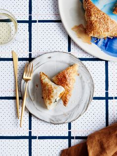 Roast Pumpkin, Fetta & Kale Hand Pies. Recipe by Kate Berry of Lunch Lady. Photo by – Eve Wilson. Styling – Lucy Feagins.