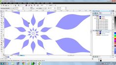 How to make a flower in corel draw.