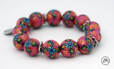 BR15FU01 - € 22,50 On sale in June 2013 #bracelet #fuchsia #HandpaintedOnWood #MAEI #accessories